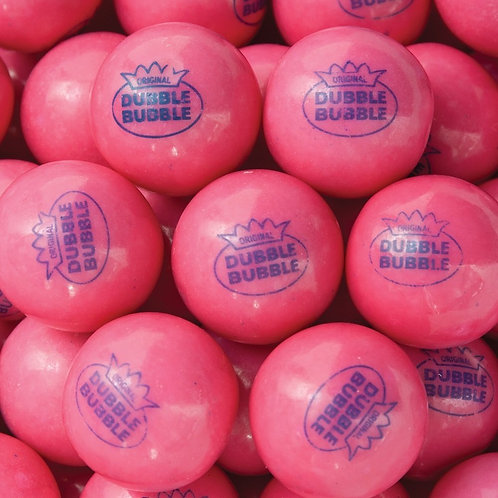 "Pink Lemonade Dubble Bubble 1"" Gumballs     Choose Weight   4 - 30 LBs"