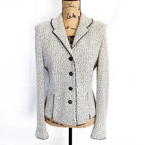 ST. JOHN tweed blazer suit jacket