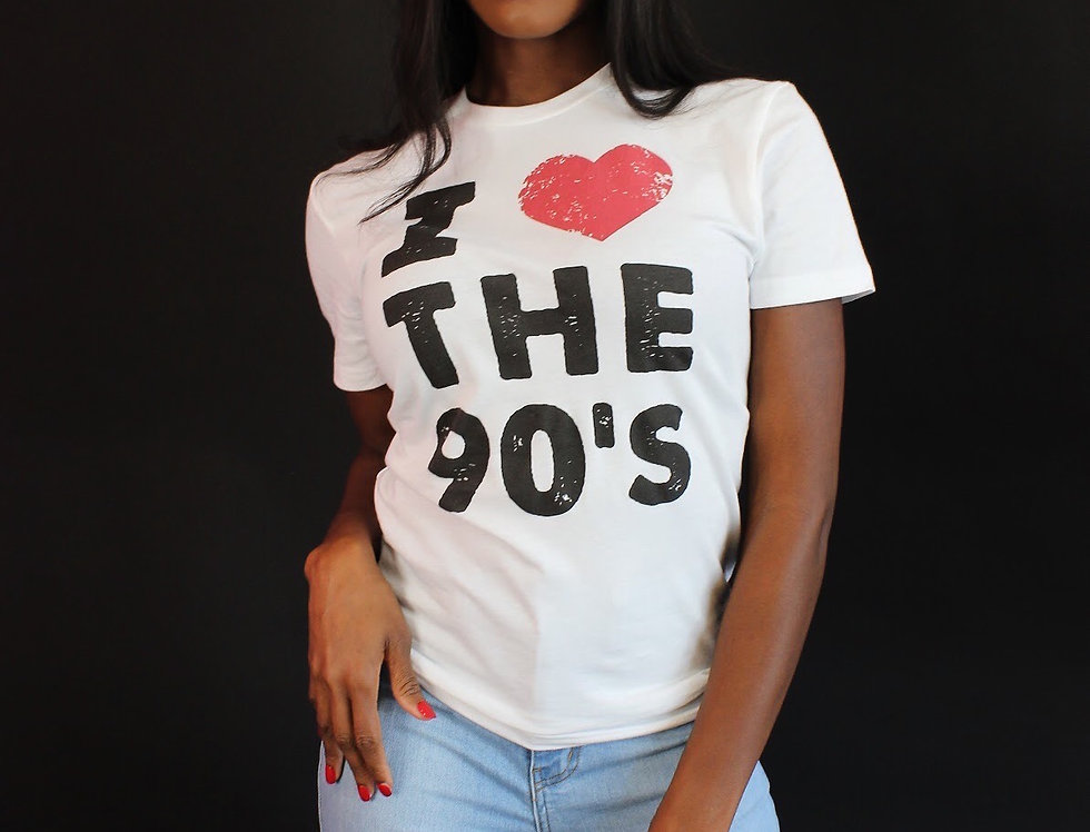 I Love the 90s Distressed (White)