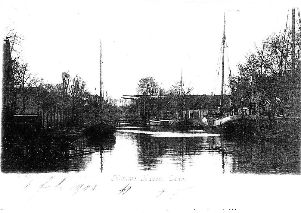 courier op de nieuwe haven in Edam, 6 febr 1906.