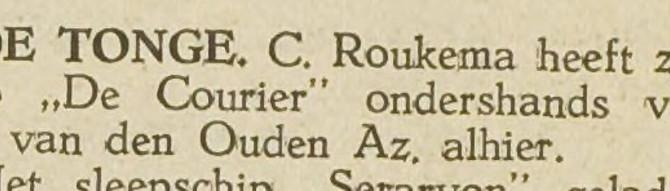 Onderhandse verkoop 1931