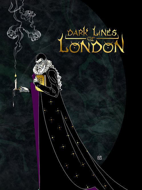 """Dark Lines Of London Postcard """"Dee"""""""
