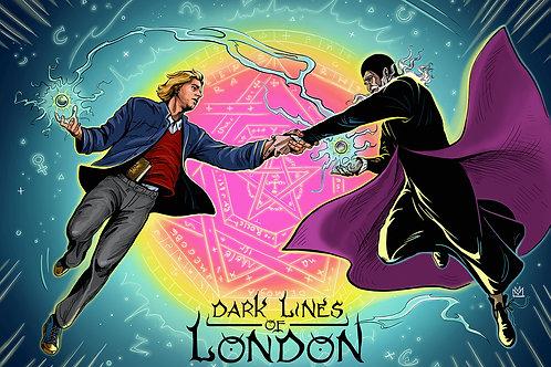 "Dark Lines Of London Postcard ""Contact"""