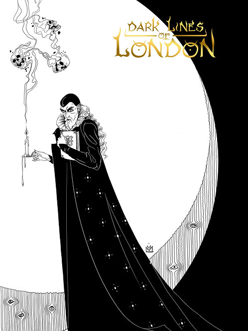 "Dark Lines Of London Poster A3 ""Dee Mono"""