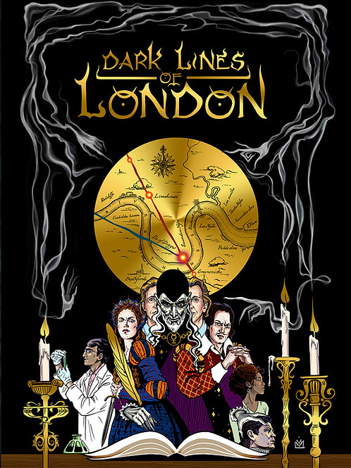 "Dark Lines Of London Postcard ""Cover"""