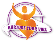 Nurture Your Vibe Logo with person with heart body