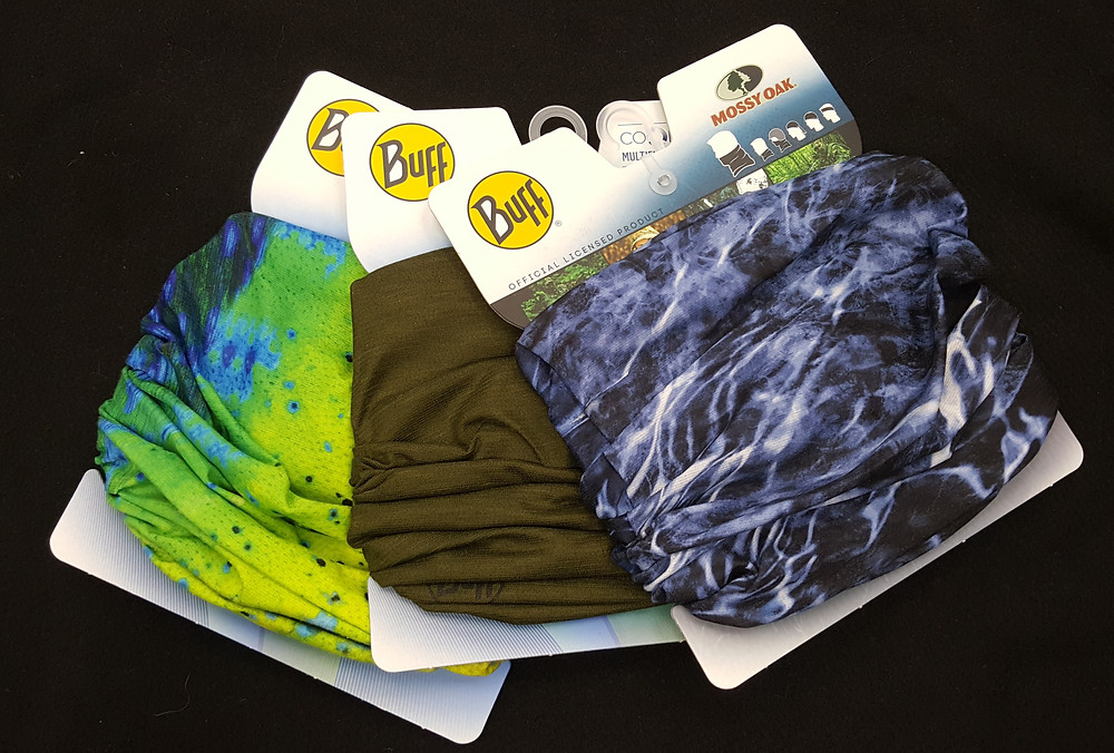 We are fully re-stocked on Buffs, and we even have some new patterns available. Come in and check them all out.