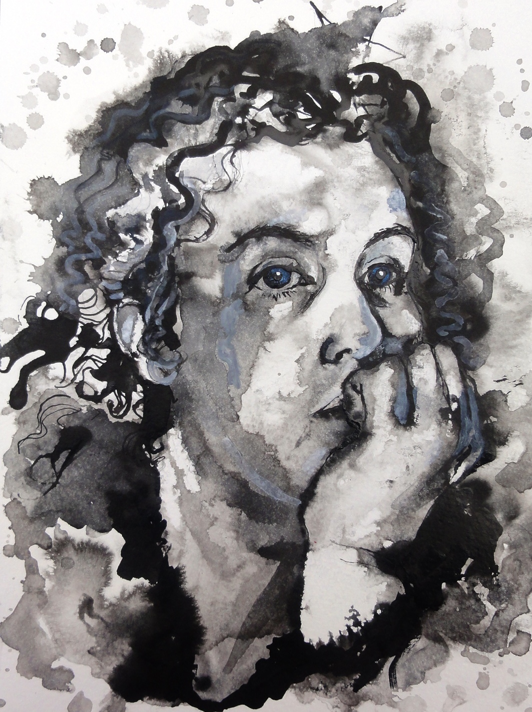 Katy Self-Portrait in Ink