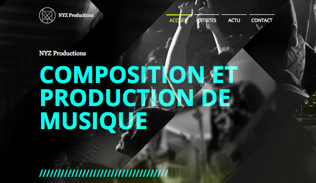 Producteurs website templates – Société de Production