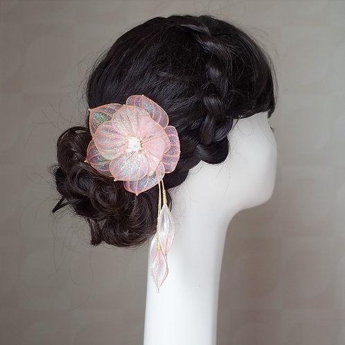 Jewel Flower 6 : Pink(gold wire)