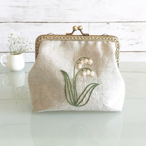 Flame pouch : lily of the valley (large size)