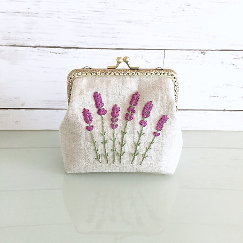 Flame pouch : lavender (large size)
