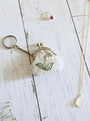 Key ring of flame pouch : lily of the valley