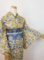 Casual Kimono☆floral pattern Komon*