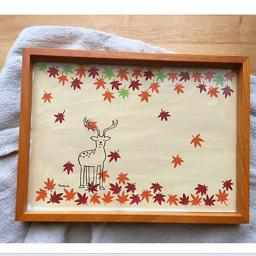 Original drawing : Maple and deer