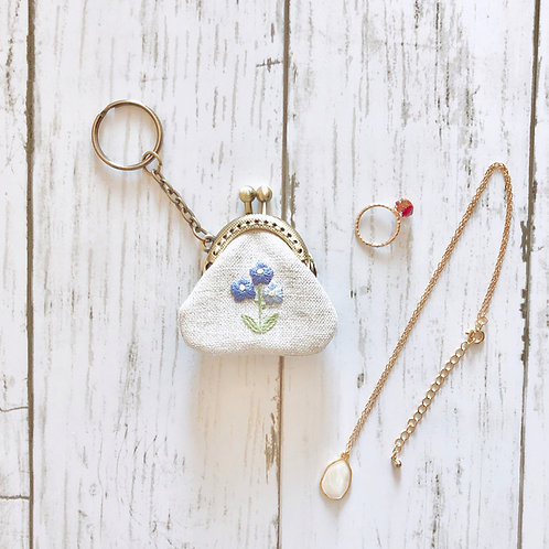 Key ring of flame pouch : forget-me-not