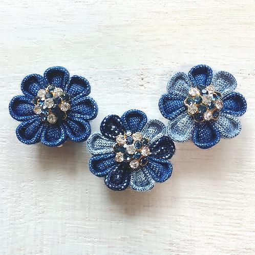 amiga denim earings👑💎 Swarovski blue&crystal ver.