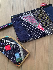 "Japanese style pouches with ""aduma-bag"""
