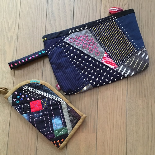 """Japanese style pouches with """"aduma-bag"""""""