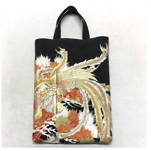 Kimono remake tote bag : Chinese phoenix