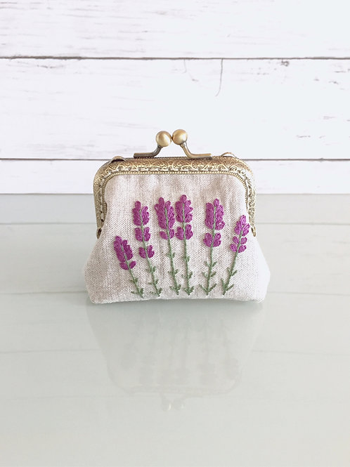 Flame pouch : lavender (middle size)