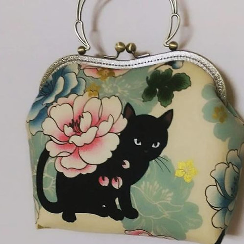 Black cat purse style bag