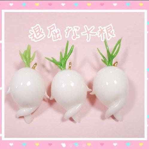 Bored radish : fish hook earrings