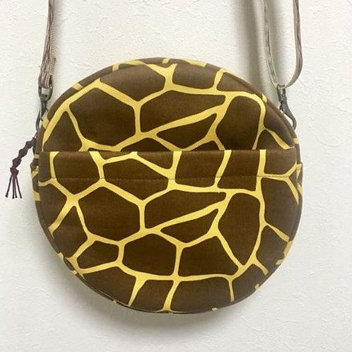 Round crossbody bag :Giraffe