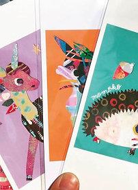 Animal postcards, set of 5