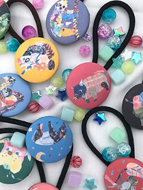 Animal button hair accessory