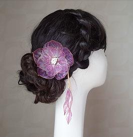 Jewel Flower 6 : Purple(gold wire)