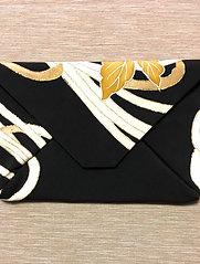 Kimono remake pouch : flower petals of kiku