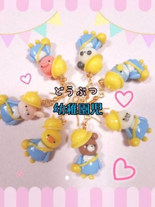 Kindergarten Animals : fish hook earrings