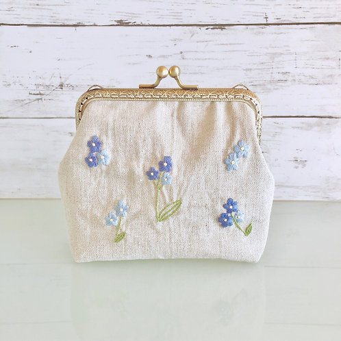 Flame pouch : forget-me-not (large size)