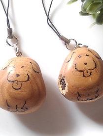 "Wood carving Ningyo-yaki ""a dog"""