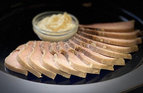 Virtas jautienos liežuvis  su krienų padažu (0.3 kg)