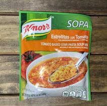 Tomato Based Star Pasta Soup