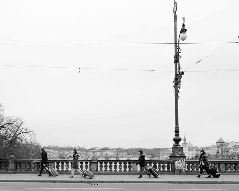 Rollkoffer in Prag