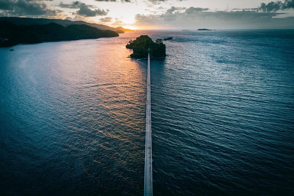 Die Brücke von Samaná: eine Touristenattraktion.