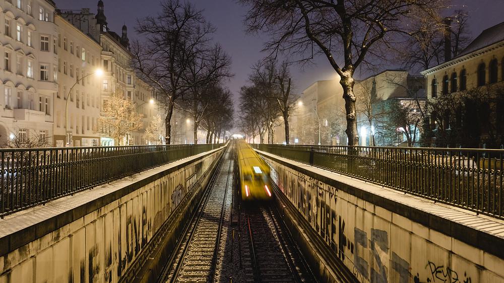 U-Bahn im Schnee