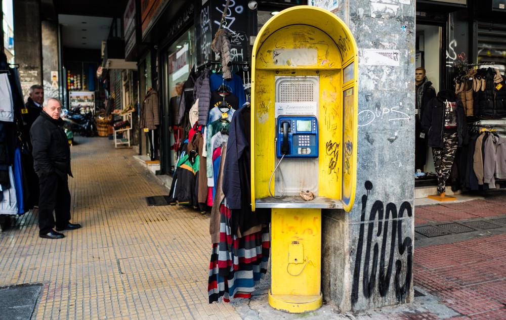 Telefonzelle in Athen