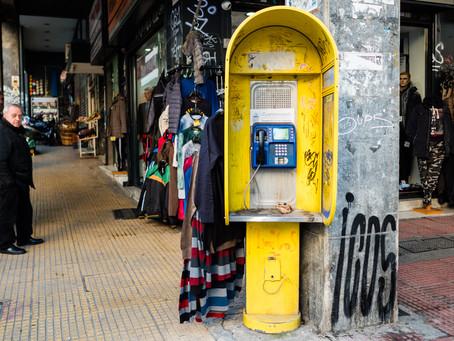 Telefonzellen in Athen
