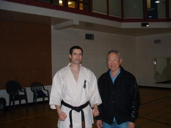 Shihan Low and Sensei Darren
