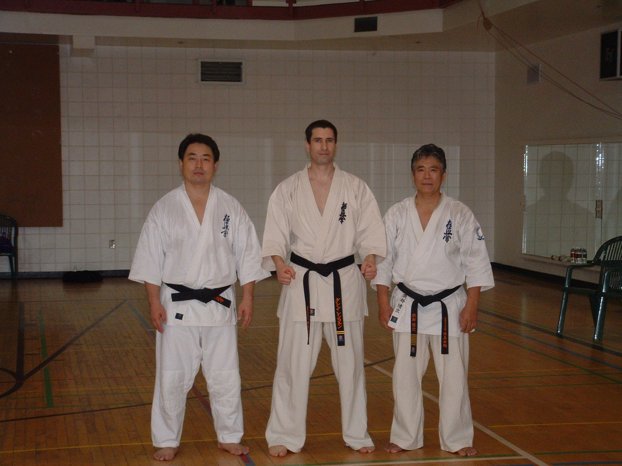Kancho shihan Isobe and darren 2004.JPG