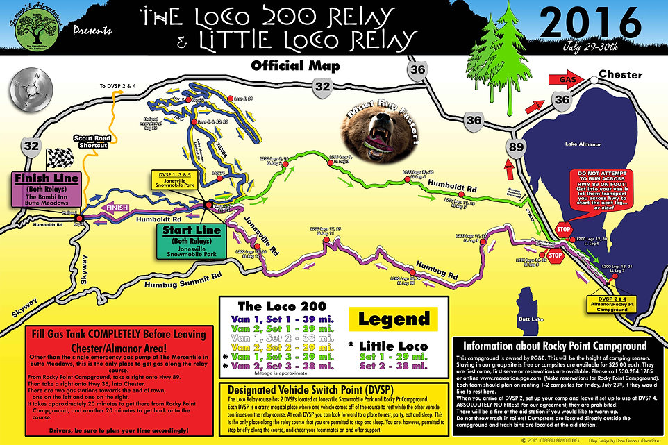 Loco 200 Totally Awesome Full Map of Legs!