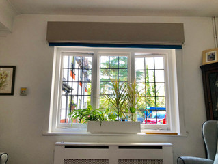 CO-ORDINATING BOX PELMENT & ROMAN BLIND