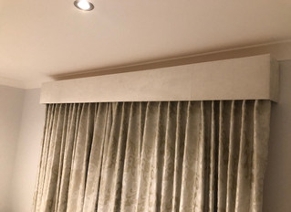 VELVET BOX PELMET & CURTAINS