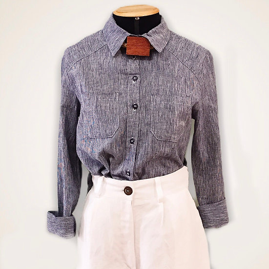 Camisa Linho Jeans