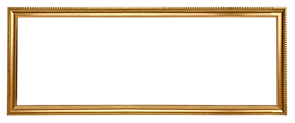 Gold picture frame rectangle