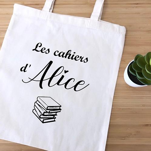 """Tote bag """"Les cahiers de"""""""